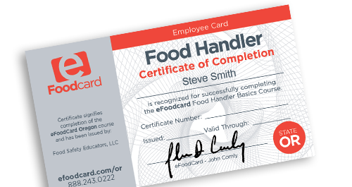 How Do You Get A Food Handlers Card In Oregon