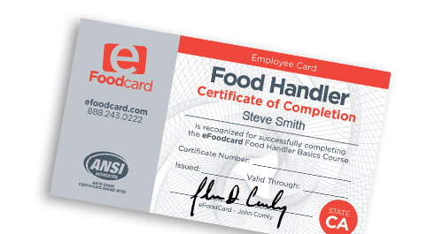 food handlers cards & certificates | efoodcard